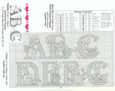 Schema punto croce Abc Baby Bunnies 02