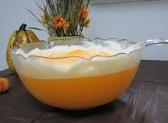Dreamsicle Orange Punch 1 Quart Orange Sherbet 1 Quart Vanilla Ice Cream 1 Liter Of Sprite or 1 Can Of Cream Soda Pour 1 Liter Sprite or Into A Large Punch Bowl. Scoop Softened Sherbet and Vanilla Ice Cream Into The Bowl. Add 1 Can Of Cream Soda And Stir. Summer Drinks, Fun Drinks, Beverages, Refreshing Drinks, Party Drinks, Ponche Navideno, Yummy Treats, Yummy Food, Tasty
