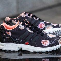 adidas zx flux rose motif fleur hibiscus