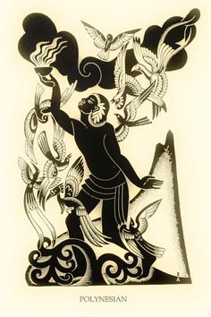 Illustration by Boris Artzybasheff  from 'Orpheus Myths of the World' written by Padraic Colum (1930)