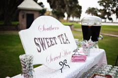Wedding Signs SWEET TEA Featured in Southern Weddings Magazine  24X18 on Etsy, $54.95