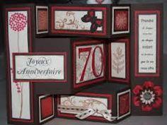 """Résultat de recherche d'images pour """"carte d'invitation pour anniversaire en scrapbooking"""" Birthday Cards, Gallery Wall, Invitations, Messages, Frame, Blog, Images, Celine, Decor"""