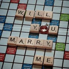Happy National Scrabble Day! Isn't this a cute way to propose?!⠀  ⠀  Photo Credit: LoveDignity.com⠀  .⠀  .⠀  .⠀  #frankreubeldesigns #frd #jewelrylover #jewelrygram #finejewelry #jewelrydesign #designerjewelry #jewelry #diamonds #nationalscrabbleday #scrabbleproposal