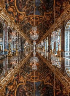 My favorite room in the whole castle! Hall of Mirrors, Versailles, France. | by Claude ROZIER on Flickr