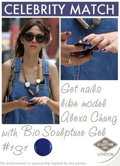 Get nails like model Alexa Chung with Bio Sculpture Gel Bio Sculpture Gel, Celebrity Nails, Get Nails, Alexa Chung, Celebs, Celebrities, Evo, Model, Celebrity