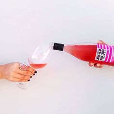 Rose wine for providing with friends.