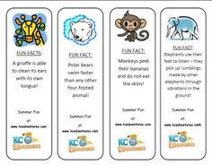 FREE Animal Bookmarks with fun facts!