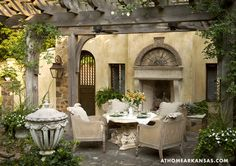 Stucco patio