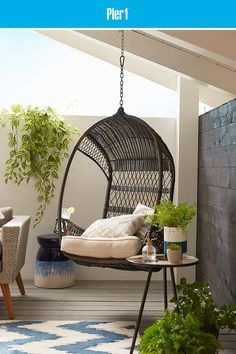 beautiful interior design ideas you probably haven't seen yet 6 Egg Swing Chair, Hanging Egg Chair, Swinging Chair, Swing Chairs, Outdoor Hanging Chair, Lounge Chairs, Beautiful Interior Design, Beautiful Interiors, Home Interior Design