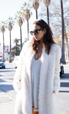 Rumi Neely of Fashiontoast in ashley B Faux Fur Coat
