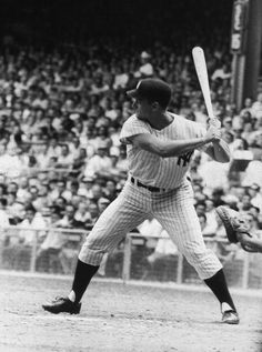 Roger Maris: New York Yankees outfielder Roger Maris (1934 - 1985) at the plate…