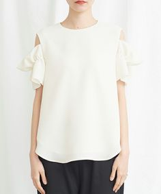 I am I in fact...(アイアムアイ インファクト)の「CREPE OFFSHOULDER BLOUSE(シャツ/ブラウス)」 詳細画像