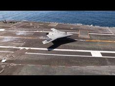 ▶ US Navy - X-47B UCAS First Touch & Go Landing Tests On USS George H.W. Bush (CVN 77) [1080p]