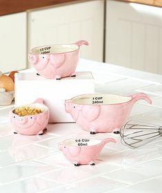 Novelty Measuring Cups or Spoons Pig or Rooster [SM303148-1MAS-RST] - $19.95 : Smart Saver LLC