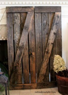 Driftwood Weathered Finish | Driftwood, Pallet shutters and Pallets