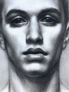 Original Portrait Drawing by Pat Kelley Amazing Drawings, Love Drawings, Easy Drawings, Pencil Drawings, Charcoal Drawings, Realistic Face Drawing, Human Figure Drawing, Self Portrait Drawing, Portrait Art