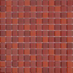 MOSAICOS DE CRISTAL: CRISTAL ROJO MIX 30x30 cm