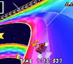 Princess Peach on Rainbow Road Rainbow Aesthetic, Aesthetic Gif, Gifs, Vaporwave, Pixel Art, Overlays, Beste Gif, Different Aesthetics, Video X