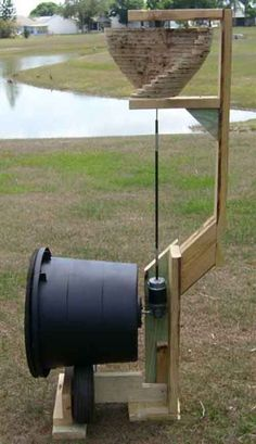Wind powered Composter