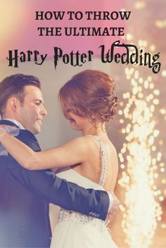 """Raise the wands and don your finest wizarding robes, it's time for a magical wedding in true Hogwarts style. Make sure there's plenty of butter beer for the toast and floating candlesticks to make the first dance as a married couple extra special. Visit eBay and learn how to throw the ultimate """"Harry Potter"""" wedding of your dreams."""