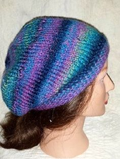 Purple and Teal Slouchy Knit Hat - Purple Slouchy Beanie. Purple and Teal Hipster Hand Knit Slouchy Hat. This hat is made of 100% acrylic yarn. This knit hat best fits average adult and teen head of 20 - 23 inches in circumference. I can easily customize to fit smaller or larger sizes as well. Hand wash, dry flat. While every effort is made to accurately represent the true colors of the yarns used in my creations, your monitor settings may affect the appearance of these colors as well.