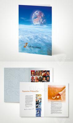 Mundirama Viajes.   Folleto Corporativo  - www.versal.net • Diseño Gráfico • Identidad Visual Corporativa • Publicidad • Diseño Páginas Web • Ilustración • Graphic Design • Corporate Identity • Advertising • Web Pages • Illustration • Logo
