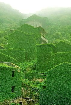 Gallery: Mystical Photos of an Abandoned Chinese Village © Jane Qing via Bored Panda Places In Europe, Places Around The World, Places To Travel, Places To Visit, Around The Worlds, Abandoned Library, Abandoned Cities, Abandoned Houses, Beautiful Buildings