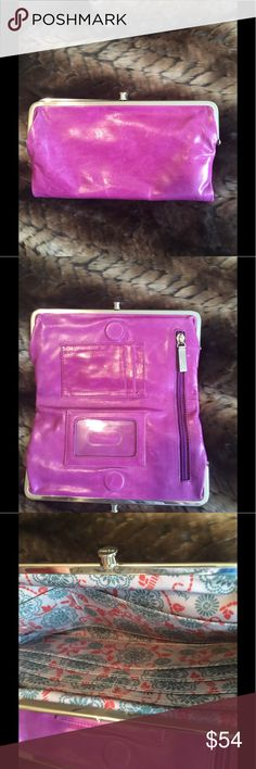 Pink HOBO Wallet Excellent clean condition authentic leather hobo wallet 8.5 x 4.5 HOBO Bags Wallets