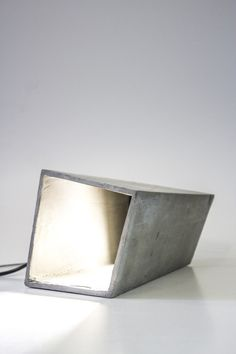 Concrete lamp.