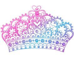 Hand-Drawn Sketchy Princess Crown Doodle