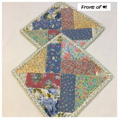 Excited to share this item from my shop: Two Homemade Heaven Duty quilted potholder, Set of handmade quilted hot pads, perfect gift Assignment Planner, Quilted Potholders, Quilted Table Runners, Christmas Sewing, Hot Pads, Hand Stitching, Pot Holders, Coasters, Sewing Patterns