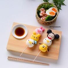 Tsum Tsum Sushi Dango by Little Miss Bento
