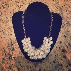 ❗️ SALE ❗️ Jumbo Clustered Pearl Necklace NWT. Goldtone accents. NO TRADES Quinn-Tessential Designs Jewelry Necklaces