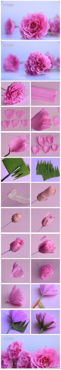 Paper Roses DIY tutorial