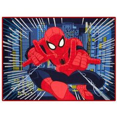 Marvel's Spiderman Nylon Room Rug, x Kids Area Rugs, Superhero Room, Room Rugs, Color Splash, Kids Bedroom, Latex, Spiderman, Marvel, Walmart