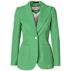 Malene Birger Saquenta cotton-blend blazer found on Polyvore