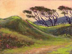 "Fort Fisher NC Civil War Landscape... Daily painting by Bernie Rosage Jr... 6x8""... SOLD"