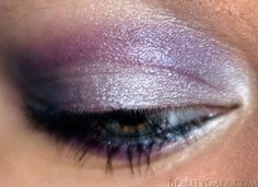 Spring Purples eye makeup.