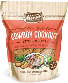 Merrick Cowboy Cookout Dog Treats Grain Free and Gluten Free, single source protein natural treats for dogs