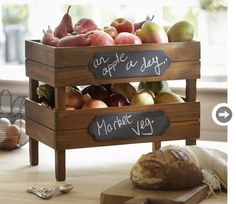 Wood crates for your fruit and veggies