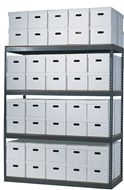 Action Wholesale Products Archive Shelving units help keep your documents and archived materials organized and safe.  Single Archive Shelving units start at just $105.93 with boxes and $60.58 without boxes. Order today! 1-800-966-3999 actionwp.com