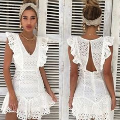 Jamerry Vintage White Lace Cotton Embroidery Women Dress Ruffled Spring Summer Mini Dress Party Short Dresses Vestidos Size S Color White - - Source by Discount Bridesmaid Dresses, Bridesmaid Dresses Plus Size, Blue Wedding Dresses, Plus Size Dresses, Blue Weddings, Second Weddings, Romantic Weddings, Bridal Dresses, Sexy Dresses