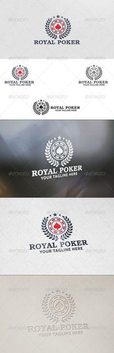 Royal Poker  Logo Template — Vector EPS #branding #black jack • Available here → https://graphicriver.net/item/royal-poker-logo-template/5816852?ref=pxcr