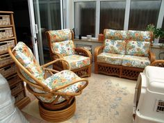 Reupholstered conservatory furniture.