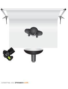 One-light + reflector Butterfly Lighting setup diagram   Design ...