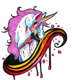 zombie unicorn. but I'd like to see the eye.