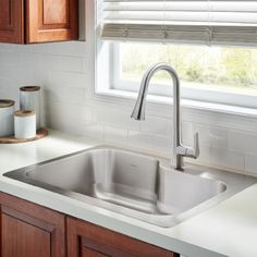 33x22 Stainless Steel Sink : ... Raleigh 33x22 Stainless Steel Kitchen Sink - single bowl curved