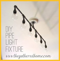 How to Make A DIY Plumbing Pipe Light Fixture....