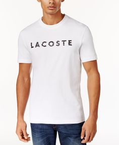 Lacoste Men's Logo Print T-Shirt - White