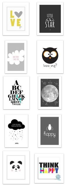 10 lovely black white free printable posters for modern baby room visit my blog